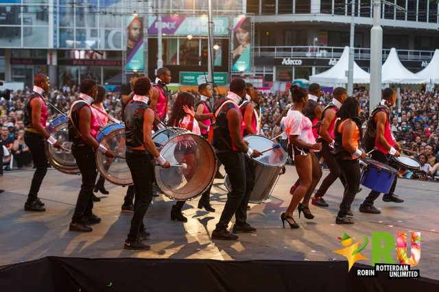 Drummers at Rotterdam Carnival in Holland