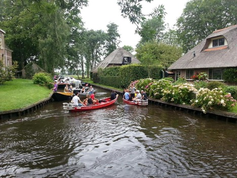 Take a boat ride at Giethoorn, the Venice of Holland, in the Netherlands