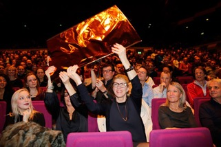 Attendees of the Rotterdam International Film Festival